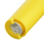 Cute Plastic Coin Carrying Case w/ Keychain - Yellow