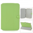 "Protective PU Leather Flip-open Case w/ Stand for Google Nexus 10"" - Green"