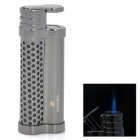 Cool Alloy Butane Jet Torch Cigar Lighter - Dark Silver
