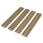 Tactical Nylon Ladder Rail Covers for M4 / M16 - Khaki (4 PCS)