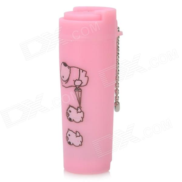 Plastic Coin Carrying Case w/ Keyring - Pink