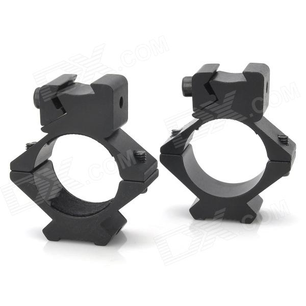 все цены на Aluminum Alloy Riser Gun Rail Mount w/ Hex Wrench for 20mm Gun - Black (2 PCS) онлайн