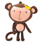 CWH2003 Cute Short Hair Velvet Long-Tail Monkey Doll Toy - Brown