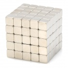 NH-125A DIY 5mm Square Neodymium Magnets - Silver (125 PCS)