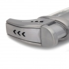 Stylish Windproof Butane Torch Lighter - Silver Grey
