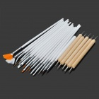 DIY 20-in-1 Nail Art Design Painting Dotting Pen Brushes Tool - White + Silver