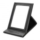 MAKE-UP FOR YOU Portable PU Cosmetic Makeup Mirror - Black