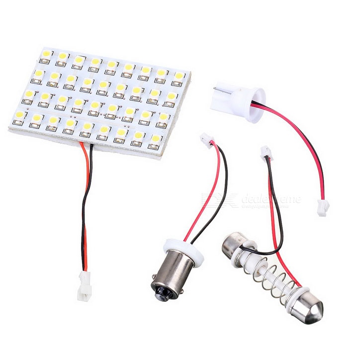 T10/BA9S/Festoon 2.28W 12V 36-LED Car Ceiling Dome Light Bulb - White