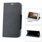 Ultra Thin Protective PU Leather Case for Samsung Galaxy Note II N7100 - Black