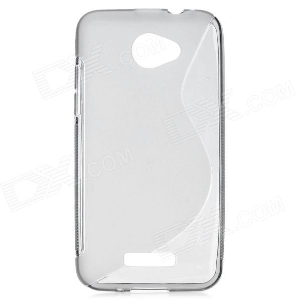 S Style Protective TPU Back Case for HTC Droid DNA x920E - Translucent Grey s style protective soft tpu back case for nokia lumia 928 translucent grey
