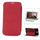 Protective PU Leather Case for Samsung Galaxy Note II N7100 - Deep Pink