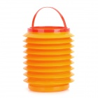 Multifunction Car Retractable Waste Basket Holder - Orange + Red