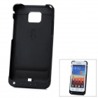 Externe 2200mAh Emergency Power Battery Charger Case für Samsung Galaxy SII i9100 - Black