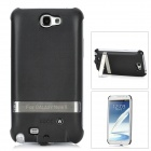 Rechargeable 2800mAh External Battery Back Case w/ Stand for Samsung Galaxy Note 2 N7100 - Black