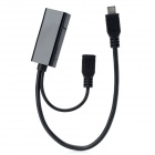 Micro USB Male to HDMI Female MHL Video Cable - Black