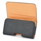 Lychee Pattern Protective PU Leather Case w/ Belt Clip for Samsung Galaxy S3 i9300 - Black