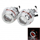 H1 H7 H4 9005/9006 35W 2800lm HID White Xenon Headlamps w/ Red &amp; White 2-Angel Eye (12V / 2 PCS)