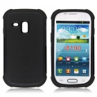 Protective Silicone + PC Back Case for Samsung Galaxy SIII Mini - Black
