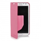 Ultra-thin Protective PU Leather Flip-open Case w/ Holder for Samsung N7100 - Deep Pink