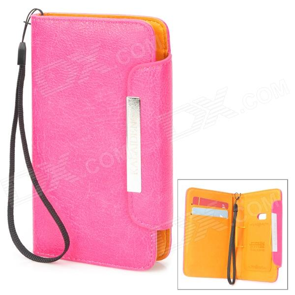 KALAIDENG Freshing Series Protective PU Case w/ Holder + Card Slots for Nokia 920 - Pink