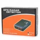 "ZGQ-02 2-in-1 1.5"" Car Radar Detector & Road Safety Warning System for GPS Navigator - Black"
