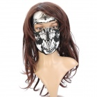 Universal Outdoor Sand Prevention Face Mask - White + Black