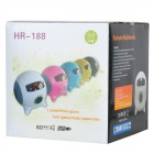 HR-188 Portable 1.5&quot; LCD Bass Speaker w/ TF Card Slot / USB Port / FM / Remote Controller - White