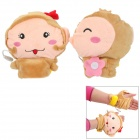 E-warmer Cute Monkey USB Heated Wrist Warm Gloves - Brown + Pink (Pair)