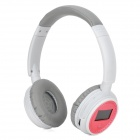 "XF-328 Stylish 1.3"" LCD Stereo Headphones MP3 Player w/ FM / TF Card Slot - White + Pink + Grey"