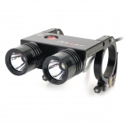 FEREI BL-200L 2 x Cree XM-L T6 1635lm 3-Mode Memory White Bicycle Light - Black (4 x 18650)