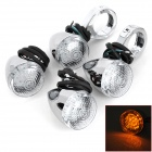 Bullet Shaped 2.7W 90lm 18-LED Yellow Light Motorcycle Steering Lamps (12V / 60cm / 4 PCS)