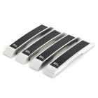 BD-0207-BL Decoration Protective Guard Bar Sticker for Car Door - Black + Silver (4 PCS)