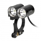 FEREI BL-800 2 x Cree XR-E R2 460lm 3-Mode White Bicycle Light - Black (4 x 18650)