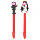 Cute Newly Married Couple Style Soft Ceramic Ballpoint Pen - Multicolored (2 PCS)