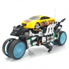 Zhengcheng 333-CL02B Rechargeable 4-CH Radio Control Drift Stunt R / C Car w / Musik / Light - Yellow