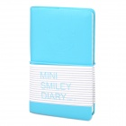 110g Mini Smile Face Diary Notebook Notepad - Sky Blue (100-Page)