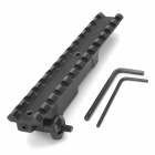 D0025 Aluminum Alloy Extension Gun Rail Mount for M60 / XM109 - Black