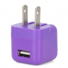 ZY-1100 USB AC Power Charger Adapter for iPhone 4G / 4S / iPod Touch 1 / 2 / 3 / 4 + More - Purple