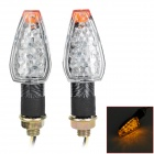 Wasserdicht 2W 112lm 14-LED Yellow Light Motorrad Blinker - Schwarz (12V / 2PCS)