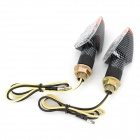 Waterproof 2W 112lm 14-LED Yellow Light Motorcycle Turn Signals - Black (12V / 2PCS)