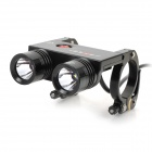 FEREI BL-200S 2 x Cree XP-G R5 700lm 3-Mode Memory White Bicycle Light - Black (4 x 18650)