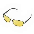 KANO Y9108 Yellow Resin Polarized Lens Anti-Glare Night Vision Driving Glasses