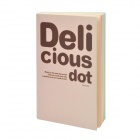B150 Delicious Dot Note Book Diary - Grey (200-Pages)