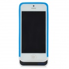 External 2200mAh Battery Soft Plastic Back Case for iPhone 5 - Blue