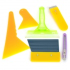PS-56 Car Window Film Fitting Tool Set - Yellow + Green (6PCS)