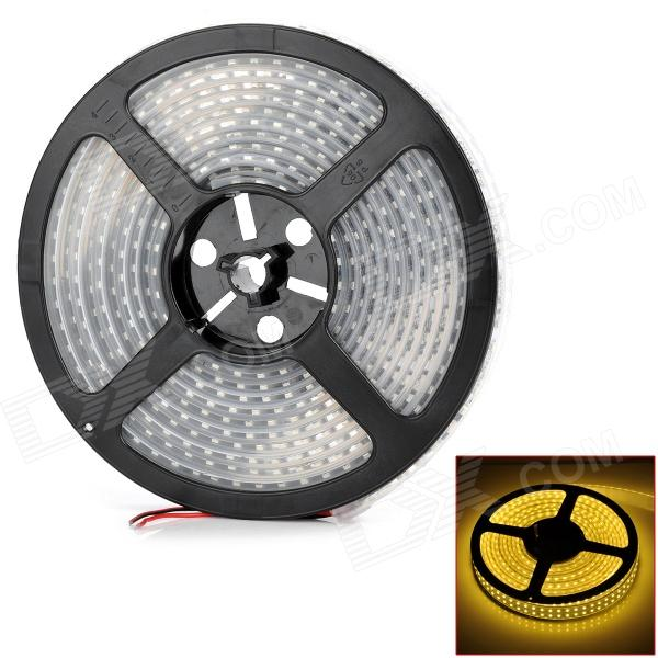 96W 4800lm 1200-3528 SMD LED Warm White Light Waterproof Flexible Decoration Lamp Strip (5m / 12V)
