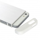 Protective Aluminum Alloy + PC Back Case for iPhone 5 - Silver + White