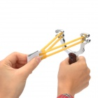 2-in-1 Slingshot Launcher w/ Cigarette Lighter & 5 Metal Balls - Brown + Silver