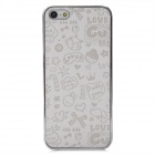 Protective PC Plating Back Case + Screen Protector Set for Iphone 5 - White