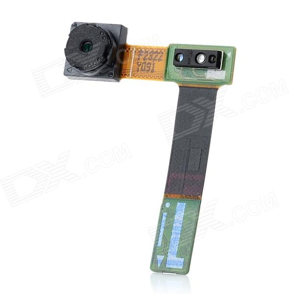 Genuine Replacement Parts Front Camera Lens Module for Samsung N7000 / i9220 - Black + Green replacement back camera circle lens for samsung galaxy s5 g900 black